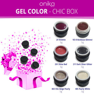 Gel Color - Chic Box - 6 Gel