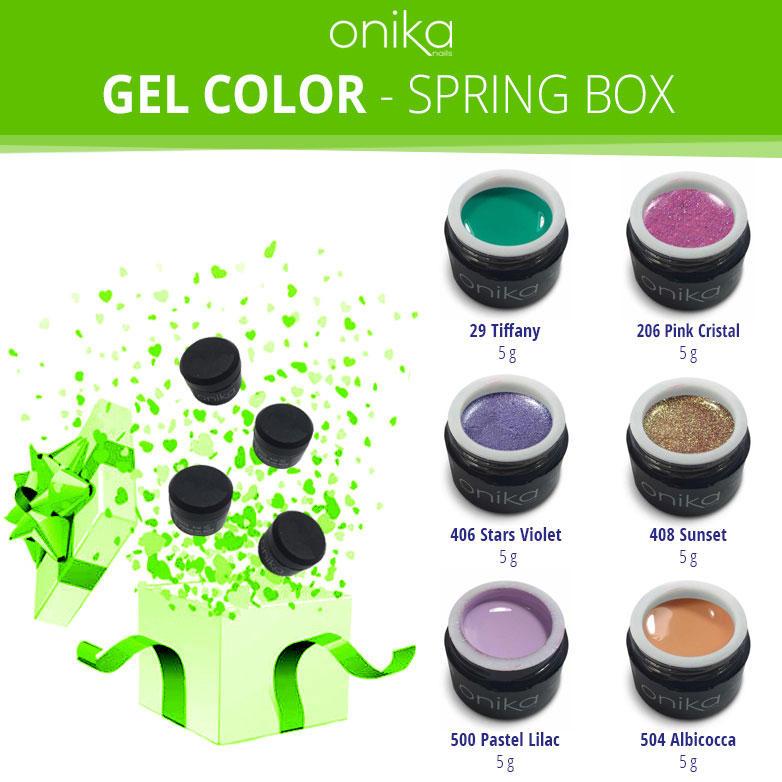 Gel Color - Spring Box - 6 Gel