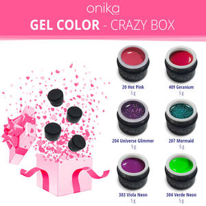 Gel Color - Crazy Box - 6 Gel