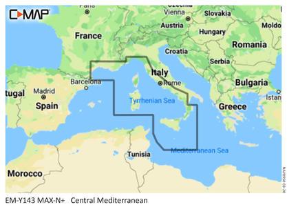 Cartografia C-MAP Max-N+ Mar Mediterraneo Centrale - Offerta di Mondo Nautica 24