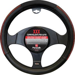 Coprivolante per Auto XXX Maranello Nero con filo Rosso Diamentro 37-40