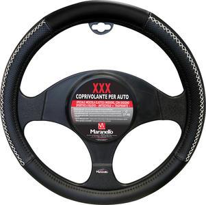 Coprivolante per Auto XXX Maranello Nero con filo Bianco Diamentro 37-40
