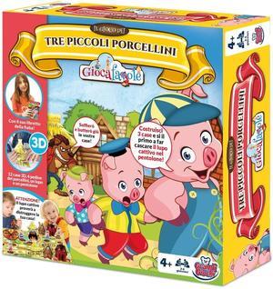 Il gioco dei Tre piccoli porcellini - Grandi giochi - PL0710 - 4+ anni.
