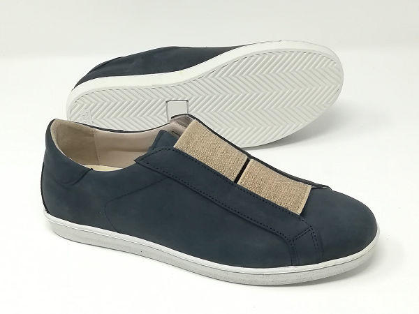 Scarpa Pelle Elastici  Blu - DAMON