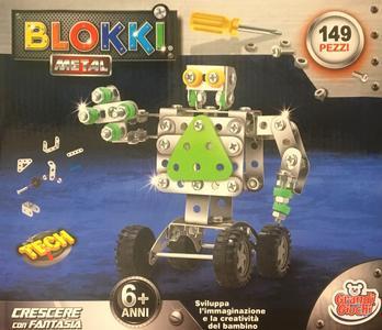 Blokki Robot costruzioni in metallo compatibili Meccano - Grandi Giochi 898B-39 - 6+ anni