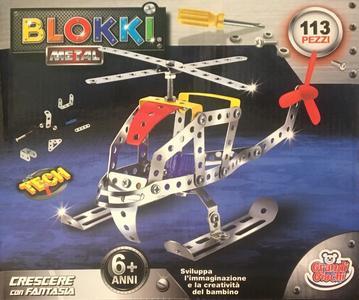 Blokki Elicottero costruzioni in metallo compatibili Meccano - Grandi Giochi 898B-19 - 6+ anni