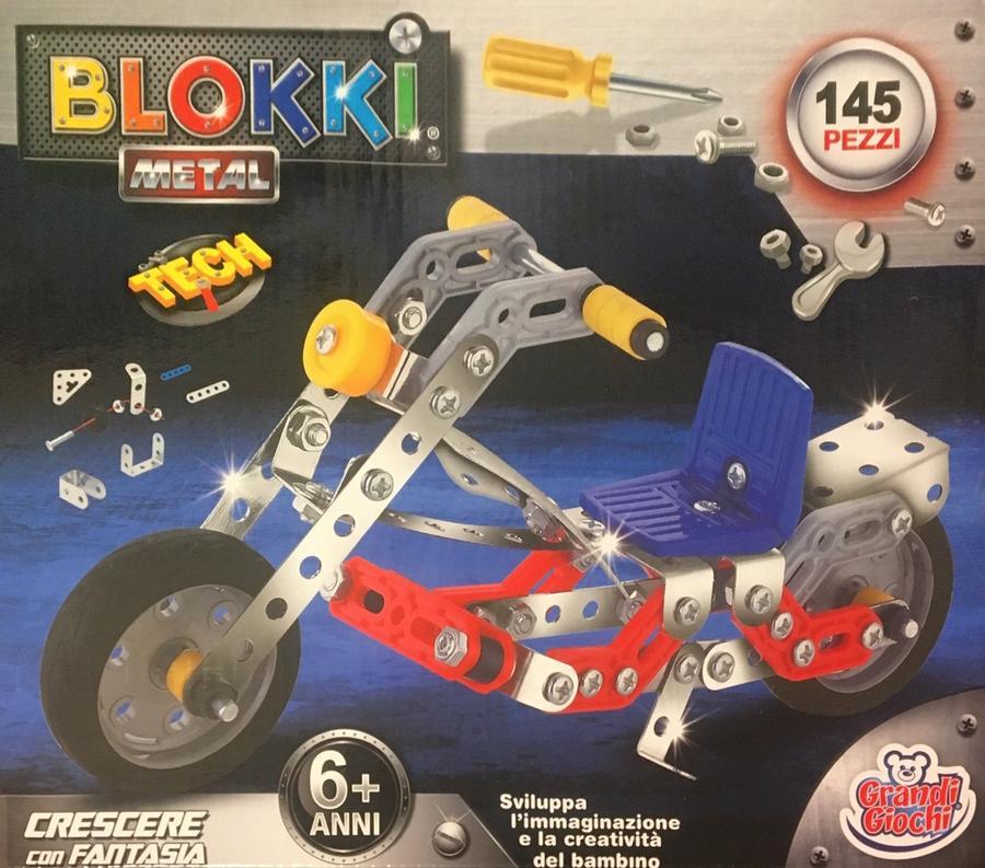 Blokki Moto costruzioni in metallo compatibili Meccano - Grandi Giochi 898B-27 - 6+ anni