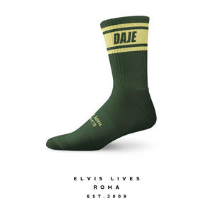 Elvis Lives Socks - Daje Green