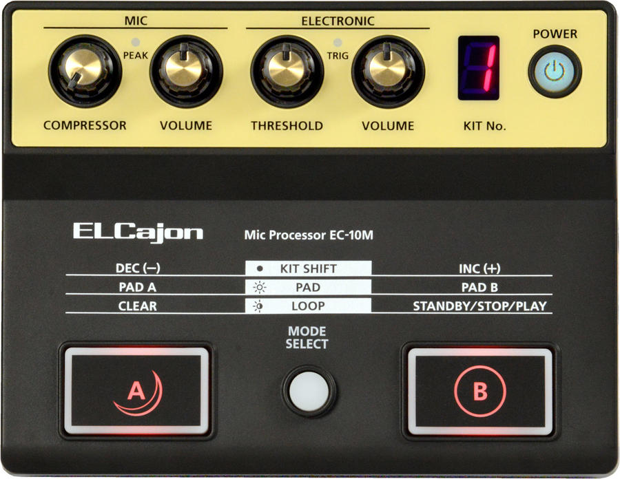 ROLAND EC-10M EL Cajon Mic Processor DRUM MACHINE