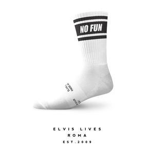 Elvis Lives Socks - No Fun White