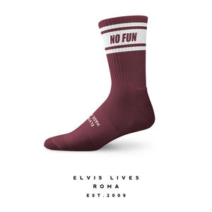 Elvis Lives Socks - No Fun Bordeaux