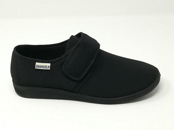 Pantofola Elasticizzata Nero - EMANUELA