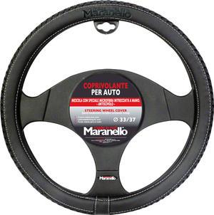Coprivolante Maranello Nero Filo Bianco Diametro 33-37