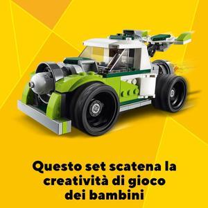 Lego Creator - Costruzione 3 in 1 Razzo-Bolide, Fuoristrada o Quad - Lego - 31103 - 7+ anni