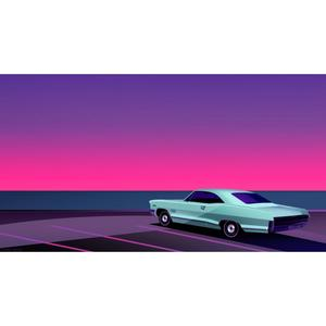 CLEMENT DEZELUS, DIGIGRAFIA NUMERATA a 99 copie, 110X60 cm: PARKING SOLITAIRE