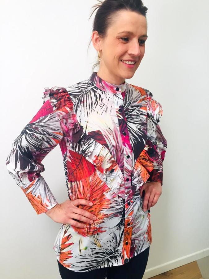 CAMICIA JUNGLE CON RUCHES
