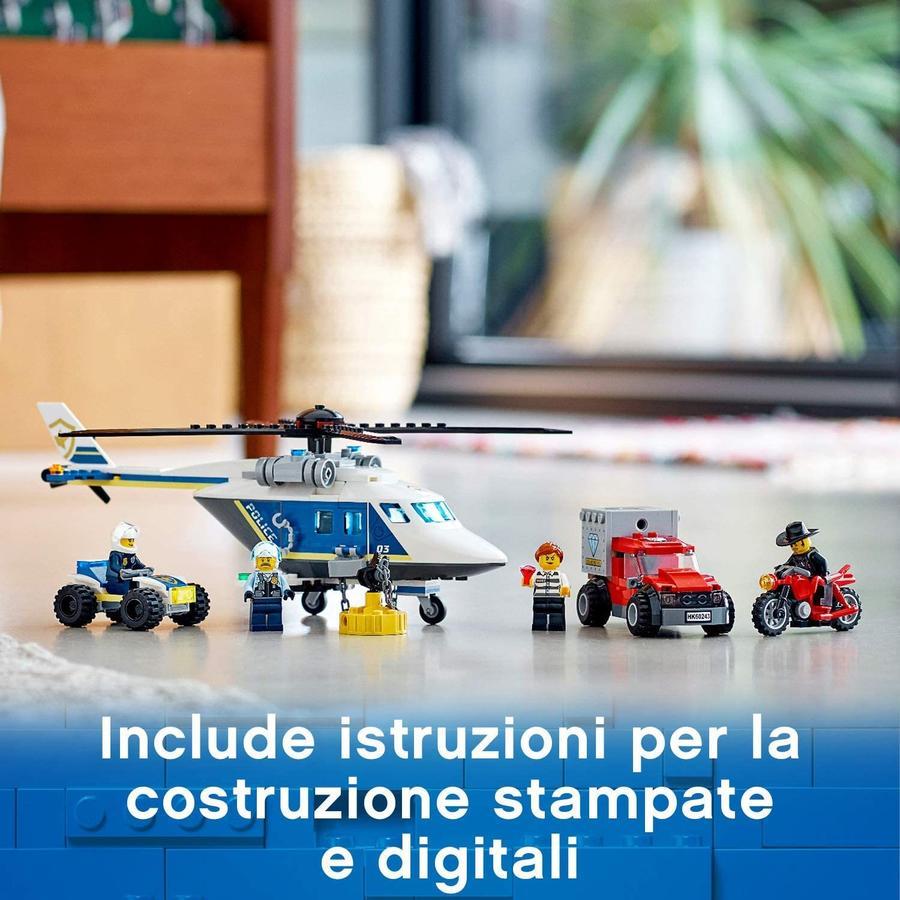 LEGO City Inseguimento sull'Elicottero della Polizia - Lego - 60243 - 5+ anni