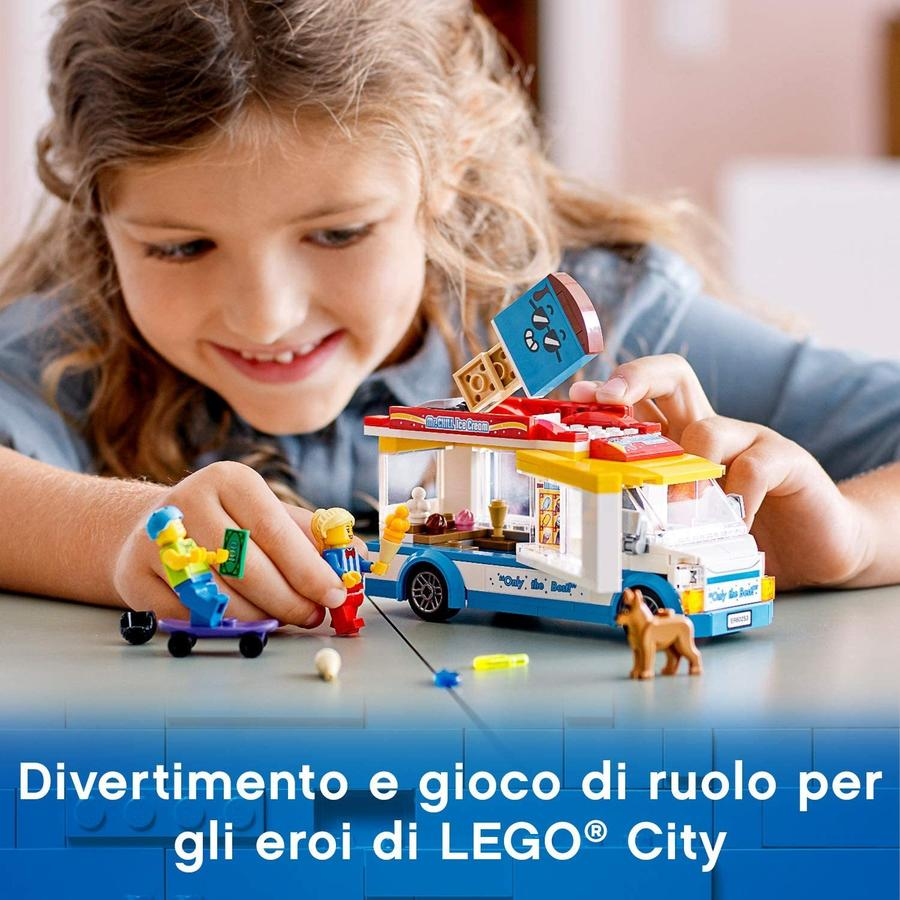 LEGO City Great Vehicles Furgone dei Gelati - Lego - 60253 - 5+ anni