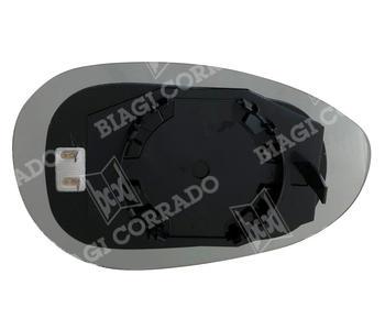 Vetro Specchio Con Piastra Sinistro Riscaldato Fiat 500 - Grande Punto - Punto Evo