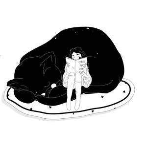 Susanna Gentili, Stampa 30x40cm firmata: Stories for Giant Cat