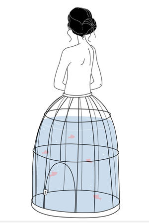 Susanna Gentili, Stampa 30x40cm firmata: A Beautiful Dress