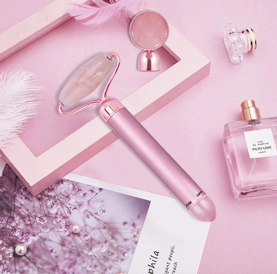 Rullo di quarzo rosa elettrico
