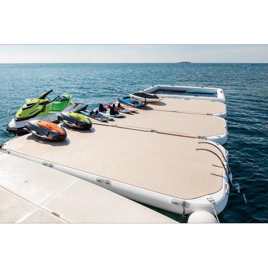 Piattaforma Gonfiabile Yachtbeach 4.10 x 2.05 m col. Lucido Champagne - Offerta di Mondo Nautica 24