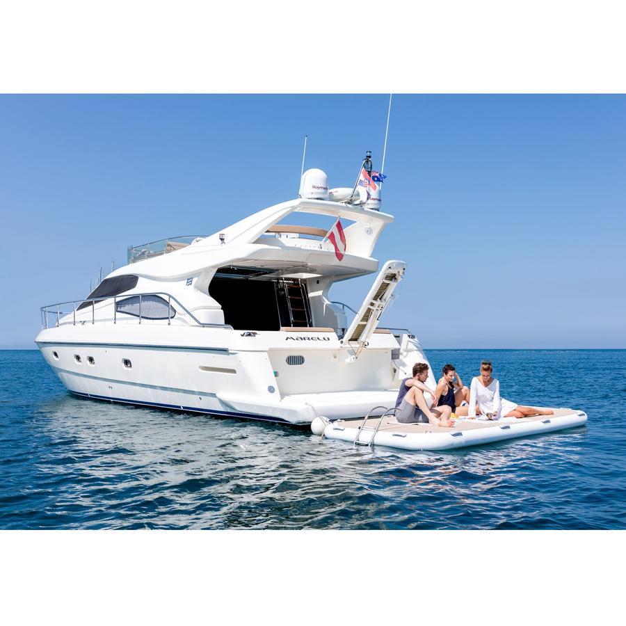 Piattaforma Gonfiabile Yachtbeach 4.10 x 2.05 m col. Oro - Offerta di Mondo Nautica 24