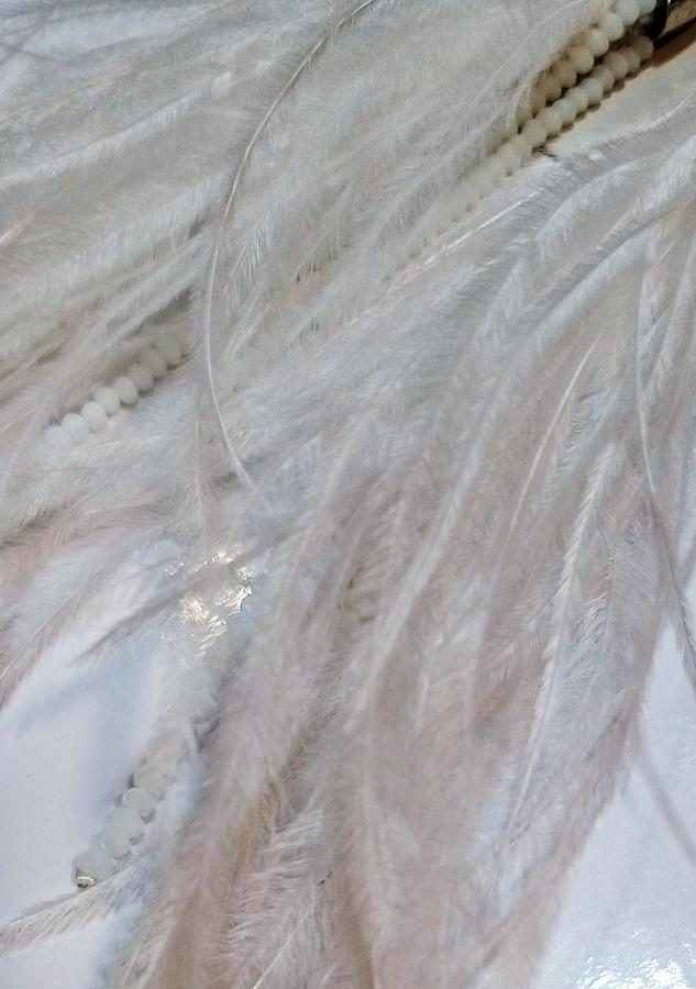 Orecchini pendenti con piume LL002B