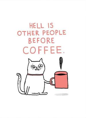GEMMA CORRELL, STAMPA RISOGRAFICA formato  A3 : HELL IS OTHER PEOPLE