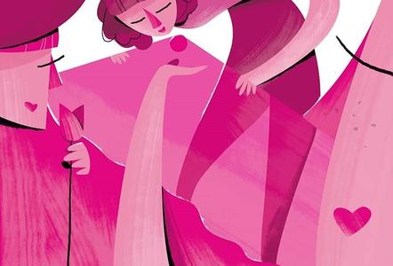 LUCA QIU, STAMPA FORMATO A3: ILLUSTRATION FOR THE RACE FOR THE CURE