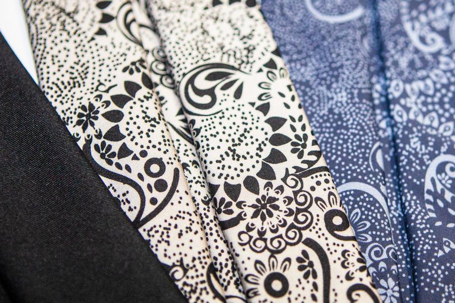 Mascherina lavabile in tessuto 3 strati StylePro - Grigio Fantasy