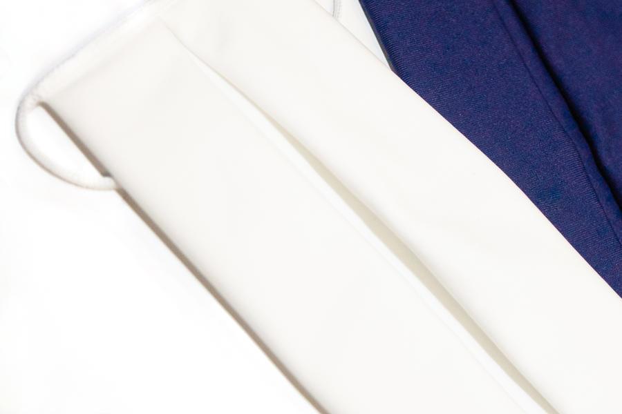 Mascherina lavabile in tessuto 3 strati StylePro - Total White Elegance