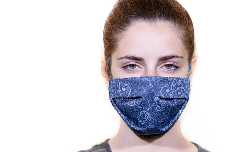 Mascherina lavabile in tessuto 3 strati StylePro -  Blu Fantasy