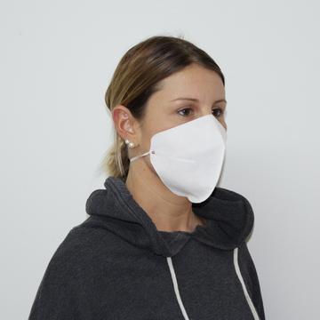 Mascherina Alta respirabilità - Lavabile e riutilizzabile - Bianca