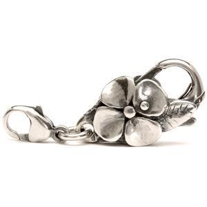 Beads Argento Chiusura Fiore Grande