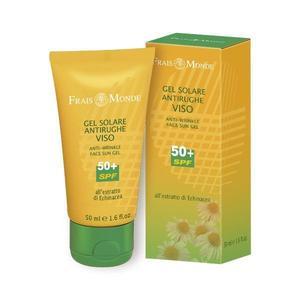 Crema viso solare gel 50+ bio