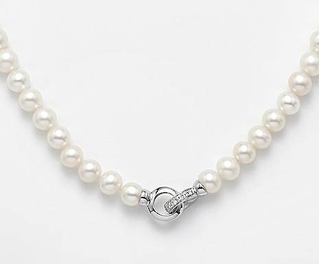 Collana Mikiko Perle e oro bianco e Diamanti