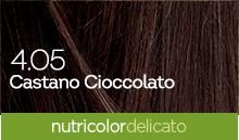 BioKap Nutricolor Tinta Delicato Nuance 4.05 Castano Cioccolato