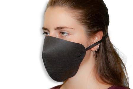 Mascherina Alta respirabilità - Lavabile e riutilizzabile - Nera