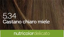 BioKap Nutricolor Tinta Delicato Nuance 5.34 Castano Chiaro Miele
