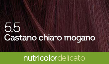 BioKap Nutricolor Tinta Delicato Nuance 5.5 Castano Chiaro Mogano