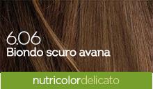 BioKap Nutricolor Tinta Delicato Nuance 6.06 Biondo Scuro Avana