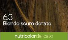 BioKap Nutricolor Tinta Delicato Nuance 6.3 Biondo Scuro Dorato