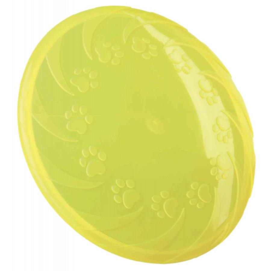 Trixie Dog Disc 22 cm Frisbee Gioco Per Cani in Gomma Disco Galleggia Termoplastica