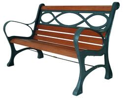 Panchina pesante legno ghisa HOUSTON cm 131x65x71 cod 93864 colore antracite