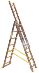Scala trasformabile 3 rampe in alluminio Maurer 3 x 8 gradini 4.8 mt 88054