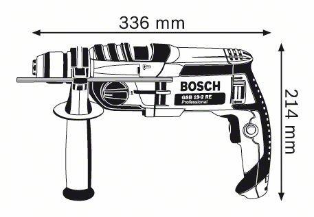 Trapano a percussione Bosch GSB 19-2 RE Professional 2 velocità