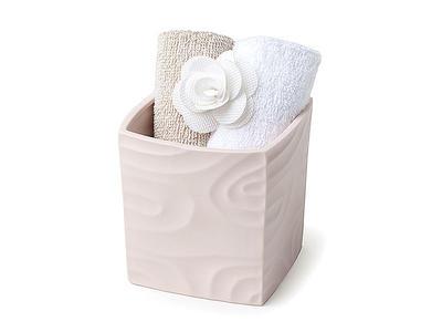 Contenitore cubo in porcellana rosa