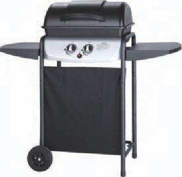 Barbecues a Gas GPL YUMA con griglia smaltata 49x32